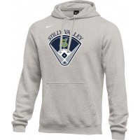 Stilly Valley Little League 18: Adult-Size - Nike Team Club Fleece Training Hoodie (Unisex) - Gray with Board Logo