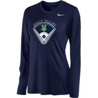 Stilly Valley Little League 15: Nike Women's Legend Long-Sleeve Training Top - Navy Blue with Board Logo